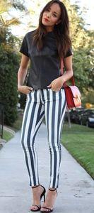 MAVI Striped Skinny Jeans